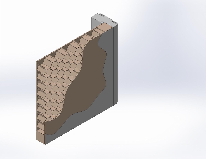 Perspectiva foaie de usa honeycomb